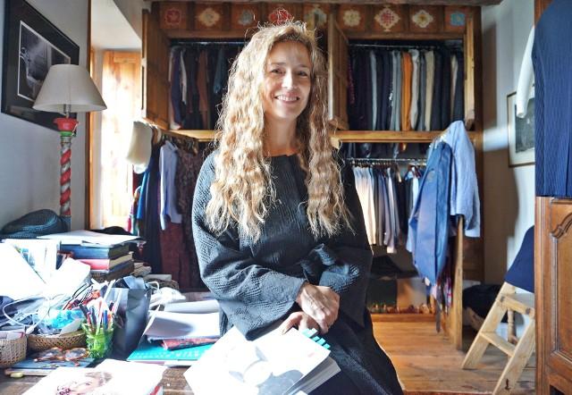Monika Palikot w domu w Lublinie