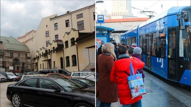 Prezydent Krakowa przygotował projekt uchwały w sprawie honorowania w pojazdach komunikacji miejskiej biletów parkingowych wydawanych na parkingach komercyjnych.