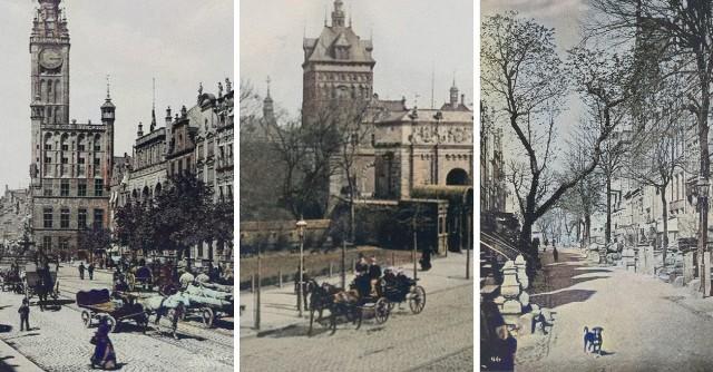 """Zdjęcia pochodzą z albumu """"Danzig : Verlag von R. Th. Kuhn"""" wydanego w 1894 roku."""
