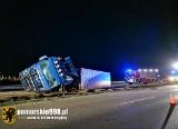 Wypadek w Gdyni i w Gdańsku 5.05. 2021 r. Tiry staranowały barierki