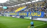 Kibice na stadionie przy Olimpijskiej podczas barażowego spotkania Arka Gdynia - ŁKS Łódź ZDJĘCIA