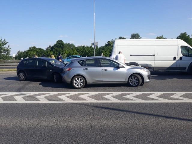 Wypadek na al. Krzywoustego we Wrocławiu 2.06.2021