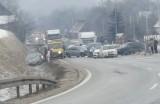 Karambol pod Jelenią Górą. Zderzyło się 7 samochodów
