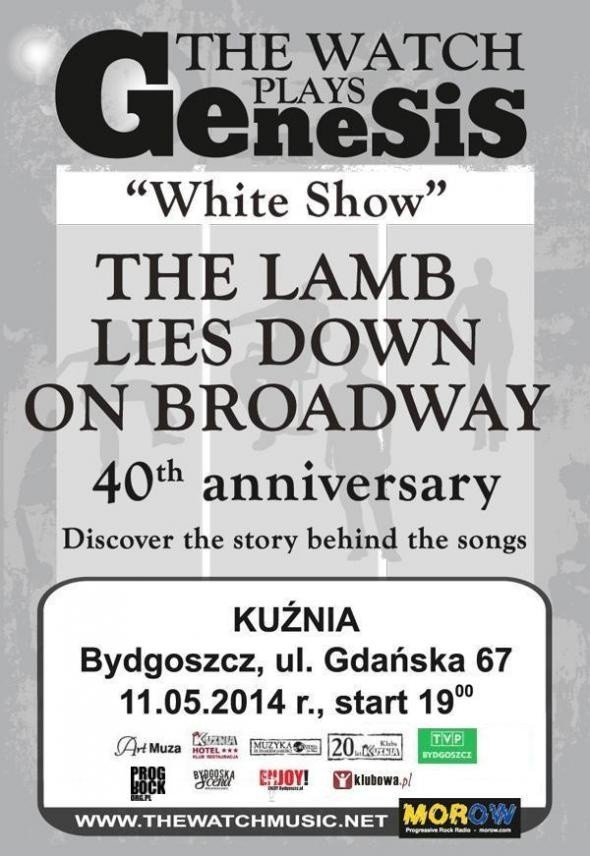 Klub Kuźnia z okazji swojego 20-lecie zaprasza na koncert The Watch Plays Genesis: The Lamb Lies Down on Broadway