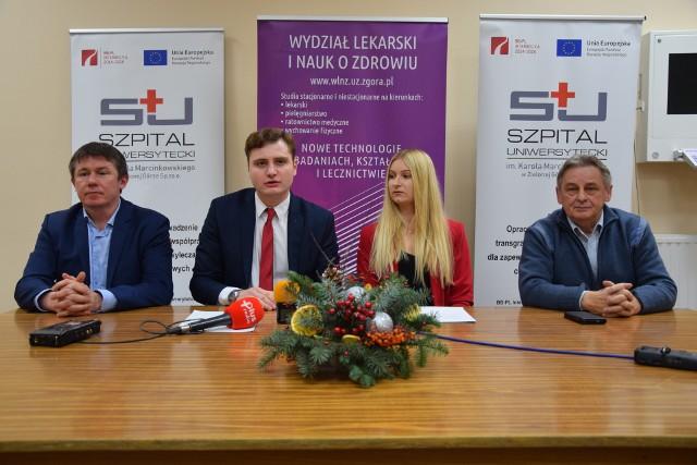 Dr n. med. Marek Szwiec, studenci medycyny: Jakub Szczepański i Karina Topczyłko oraz Edward Sobański