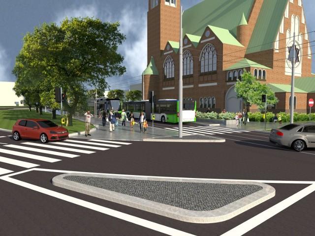 W ramach inwestycji zmodernizowany będzie także przystanek obok Bramy Portowej, który również obsłuży komunikację autobusową.