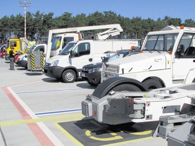 Cała flota pojazdów do utrzymania lotniska, odśnieżania, czyszczenia i podnośniki  zakupiono za unijne fundusze