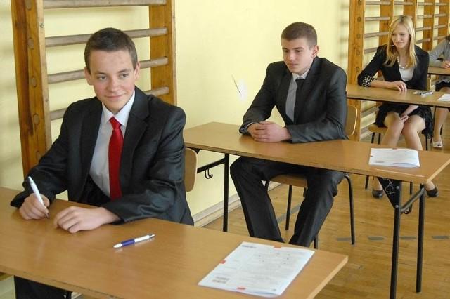 Dzisiejszy test był ostatnim w trakcie egzaminów gimnazjalnych 2012.