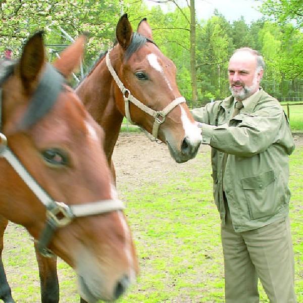 Jacek Soborski pozostawił sobie tylko te dwa konie. Siostry, szlachetnej półkrwi, świetnie spisują się w zaprzęgu