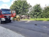 Wypadki na opolskich drogach. Zderzenie mercedesa z oplem i motocykla z volkswagenem [ZDJĘCIA]