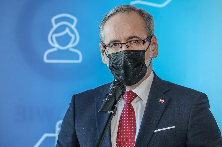 Minister zdrowia Adam Niedzielski podczas wizyty w Gdańsku,...