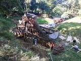 Ruszyły kolejne prace remontowe przy zabytkowej bramie Fortu I Salis Soglio niedaleko Przemyśla [ZDJĘCIA]