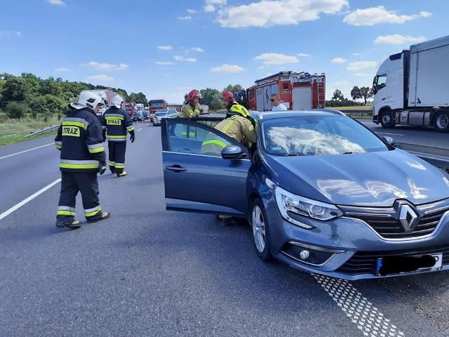 Zderzenie dwóch samochodów osobowych na 160. km autostrady A4 30.07.2021