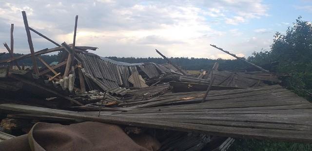 Zerwany dach w Zgorzałowie