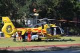 Potrącony 14-letni rowerzysta. Chłopca zabrał śmigłowiec