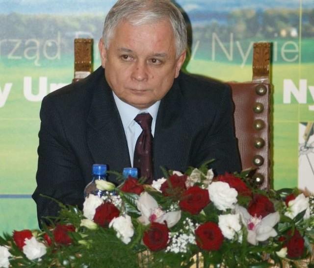 Prezydent Lech Kaczynski w Nysie. Zdjecia przyslane przez internaute Damiana Kapinosa.