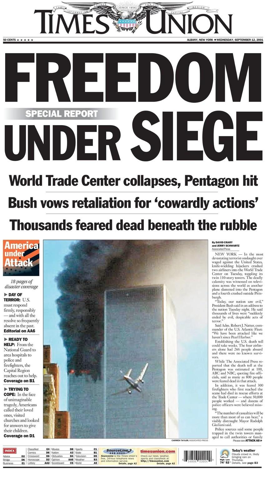Tak o tragicznych wydarzeniach w Stanach Zjednoczonych...