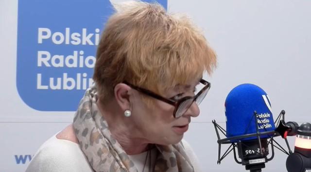 Bożena Kess w studiu Radia Lublin