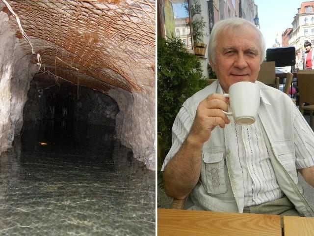 Głuszyca, zalane stolnie. - Turystyka historyczna ma potencjał - mówi Antoni Bajbak.