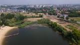 Ruszyły prace budowlane na brzegu kąpieliska Żwirownia w Rzeszowie [ZDJĘCIA]