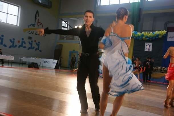 Denis Rubelt i Justyna Malisz (Róża Olesno) zajęli 3. miejsce w tańcach standardowych.