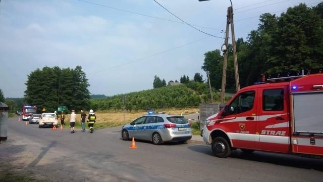 Do wypadku doszło na drodze powiatowej od Sufczyna w kierunku Łysej Góry w środę (23.06.2021) ok. godz. 15.39