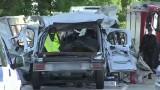Stawek. Czołowe zderzenie furgonetki z busem. 5 osób nie żyje, 22 ranne (wideo)