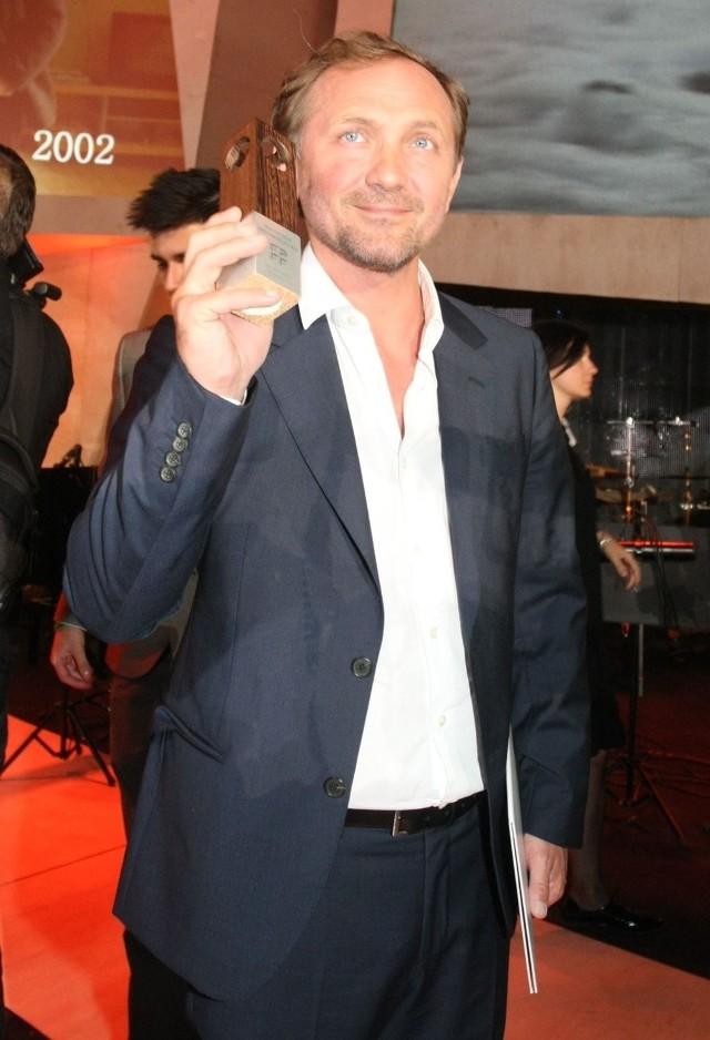 Andrzej Chyra, nagrodzony za najlepszą rolę męską na Gdynia Film Festiwalu 2013