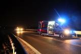 Śmiertelny wypadek koło Sieradza. Motocyklista zderzył się z ciągnikiem