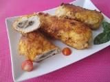 Pomysł na obiad. Kotlet de volaille (dewolaj)  z piersi kurczaka z grzybami [PRZEPIS]