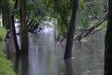 Poznań w deszczu - strumień Bogdanka wylał szeroko, w mieście korki, ale... w środę pogoda ma się poprawić!