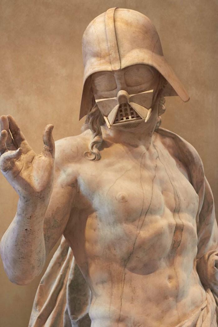 Gwiezdne wojny: Zobacz bohaterów jako antyczne rzeźby
