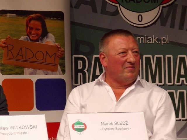 Marek Śledź, nowy dyrektor sportowy Radomiaka Radom.