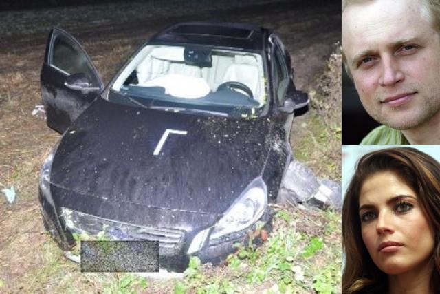 Wypadek w Malewszczyźnie. Samochodem jechał Piotr Adamczyk i Weronika Rosati