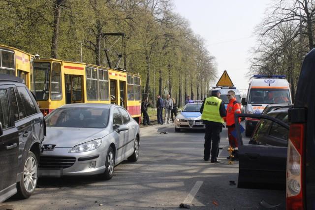Wypadek na Konstantynowskiej - 12.04.2014