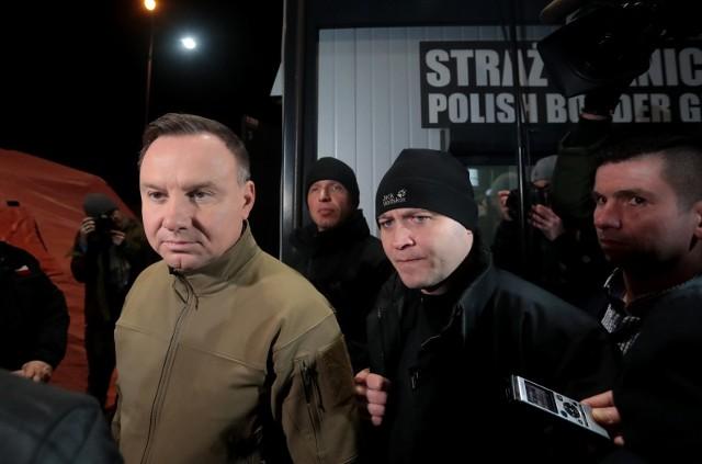 Prezydent Andrzej Duda odwiedził polsko-niemieckie przejście graniczne w Kołbaskowie