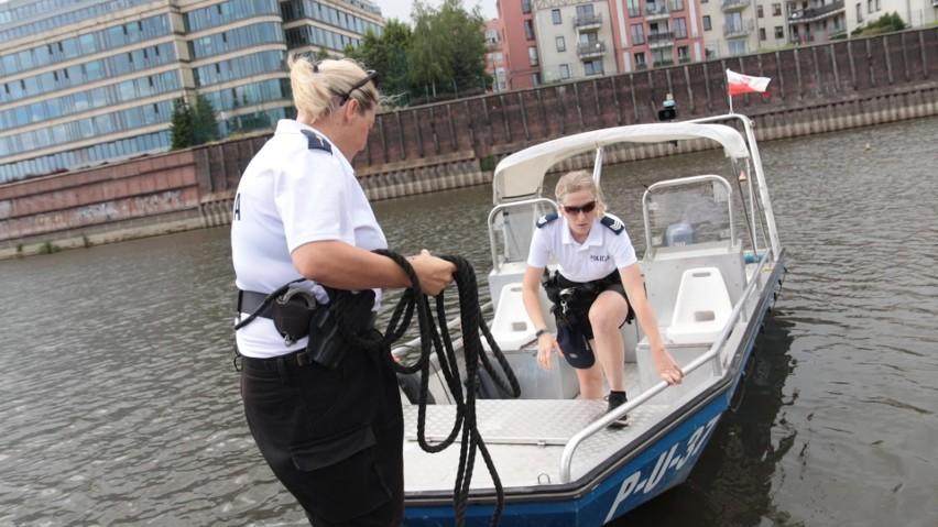 Policjantki z Komisariatu Policji Wodnej w Poznaniu