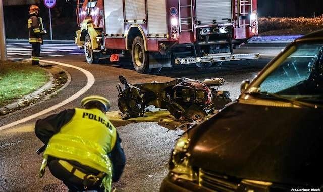 Dwa groźne wypadki w Bydgoszczy [ZDJĘCIA]