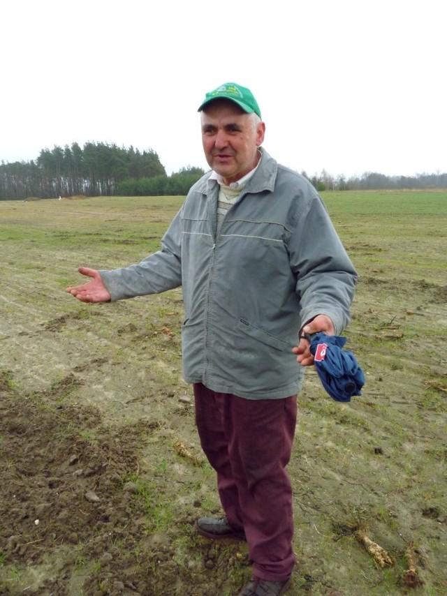 Z kołami dogadać się nie można, dlatego ziemniaków już nie sadzę, a wójt też każe płacić podatki, nie liczy się z tym ile tracimy przez dziką zwierzynę - mówi Jerzy Szklarz.