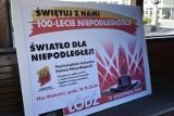 """""""Światło dla Niepodległej"""" - świetlny pokaz na pl. Wolności na finał łódzkich obchodów 100-lecia odzyskania niepodległości"""