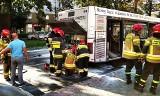 Nowy Sącz. Pożar autobusu komunikacji miejskiej. Nikt nie ucierpiał
