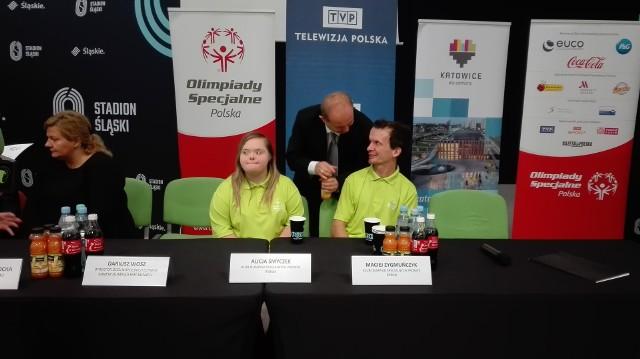 Konferencja prasowa Olimpiad Specjalnych na Stadionie Śląskim