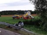 Czartajew. Wypadek w powiecie siemiatyckim. Akcja ratunkowa po dachowaniu auta (zdjęcia)