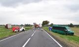 Tragiczny wypadek w Czerniaku niedaleko Mogilna. Ciężarówka uderzyła w samochód nauki jazdy. Instruktor zginął na miejscu