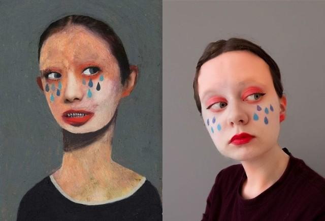 Prace uczniów liceum plastycznego w Supraślu robią wrażenie! W ramach zajęć zdalnych sami siebie zamienili w dzieła sztuki.