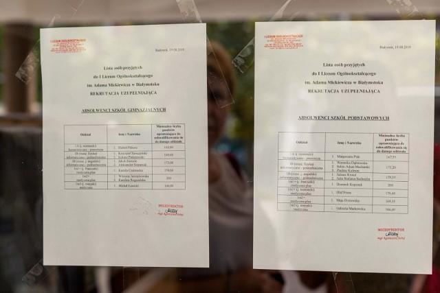 Rekrutacja uzupełniająca do szkół ponadpodstawowych w Białymstoku została zakończona. Są jeszcze wolne miejsca w niektórych szkołach.