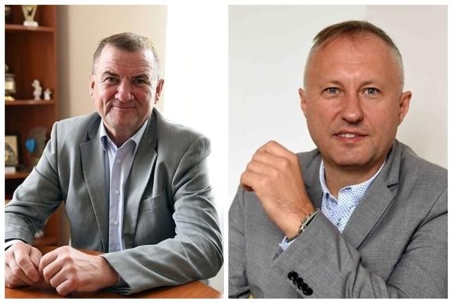 Wójt gminy Chełmiec Bernard Stawiarski i Ludomir Handzel, prezydent Nowego Sącza