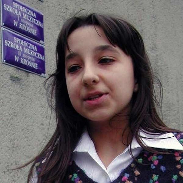 Julia Cirillo, uczennica krośnieńskiej szkoły muzycznej, laureatka konkursu w dziedzinie prozy.
