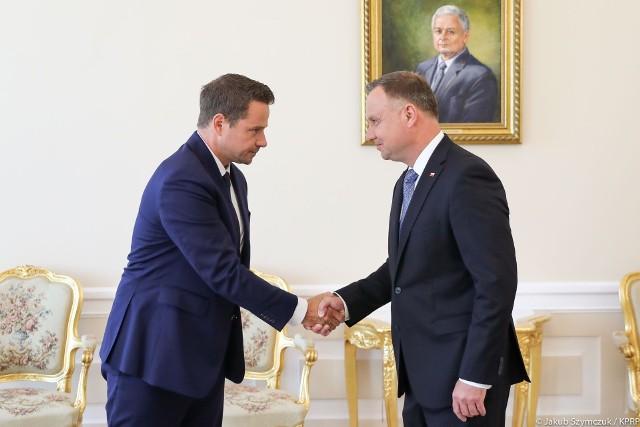 Prezydent Andrzej Duda spotkał się z Rafałem Trzaskowskim