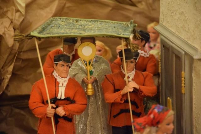 Ruchoma szopka bożonarodzeniowa z Sanktuarium Matki Bożej Księżnej Sieradzkiej w Charłupi Małej
